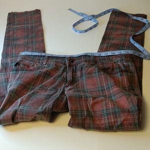 Royal Bones by Tripp Womens Plaid Jeans 32 Label see desc for measurements